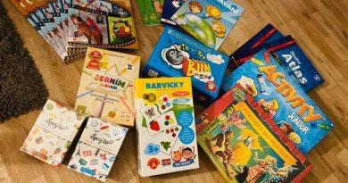 Nové knížky a hry pro naši školu a školičku